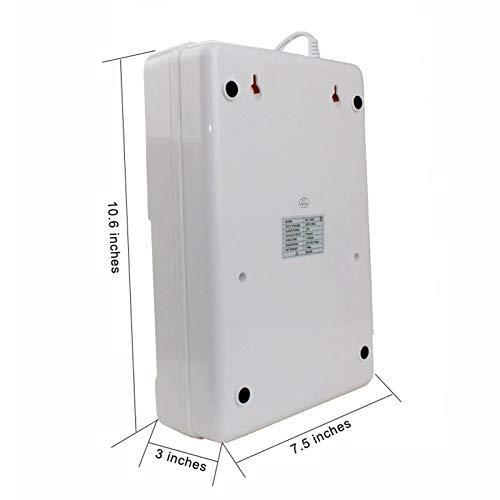 ACAMPTAR Port/átil Activo Ozone Generator Esterilizador Purificador de Aire Purificaci/ón Frutas Verduras Agua Preparaci/ón de Alimentos Ozonizador Ionizador Ac220V Enchufe de la UE