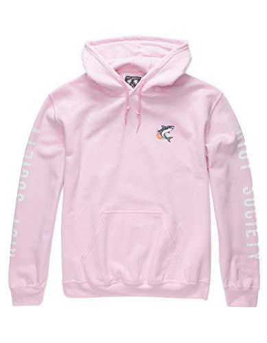 Riot Society Shark Aloha Hoodie, Pink, X-Large