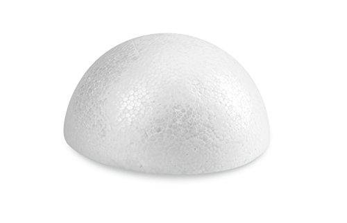 FloraCraft SmoothFoam Half Ball 1.6 Inch x 3.25 Inch White ()