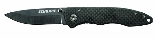 Schrade SCH401 Ceramic/Carbon Fiber Clip Folder Knife