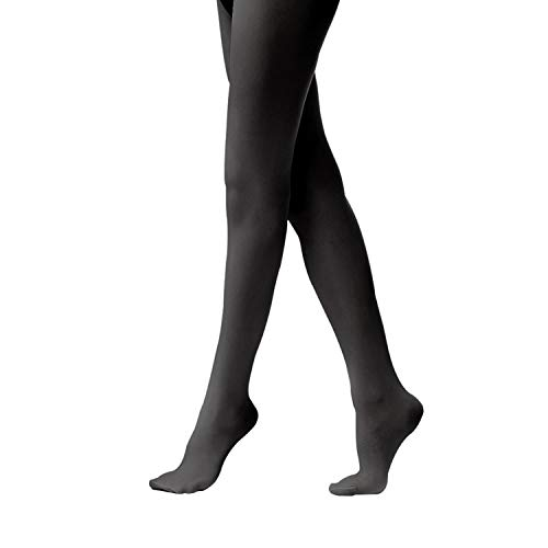 - Tights for Girls Ballet Leotards Toddler Dance Leggings Pants Footed Kids (Black - 1 Tights, 5-10 Years)