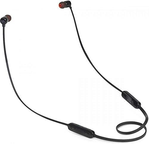 (Renewed) JBL T110BT Pure Bass Wireless in-Ear Headphones with Mic (Black)