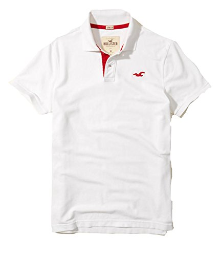 Hollister Mens Polo Shirt T Shirt  S  White 1849