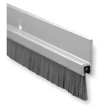Door Bottom Sweep, 8 Ft - Aluminum Door Strip