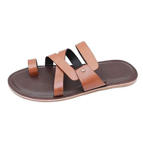 d7ed78dac217 HEVVY Vertex Men s Brown Flip-Flops  Buy Online at Low Prices in ...