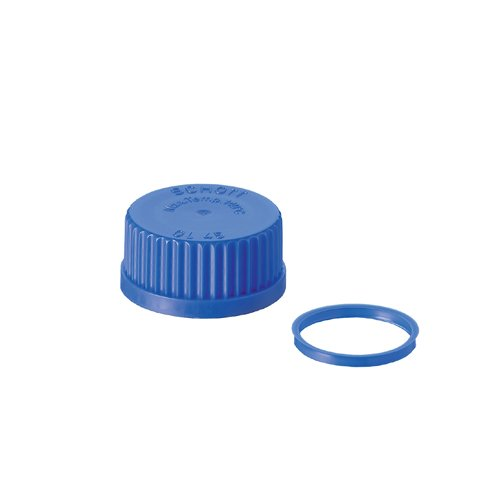 Pack of 10 DURAN 29 242 28 Screw Cap from PP1 Blue with Lip Seal DIN Thread GL 45
