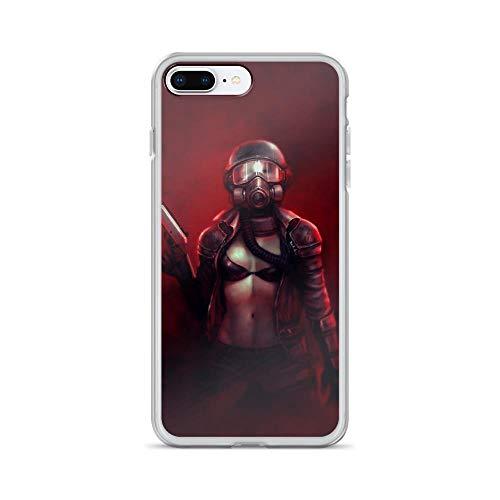 iPhone 7 Plus/8 Plus Pure Clear Case Cases Cover Red Apocalypse (Best Gun In Metro 2033)