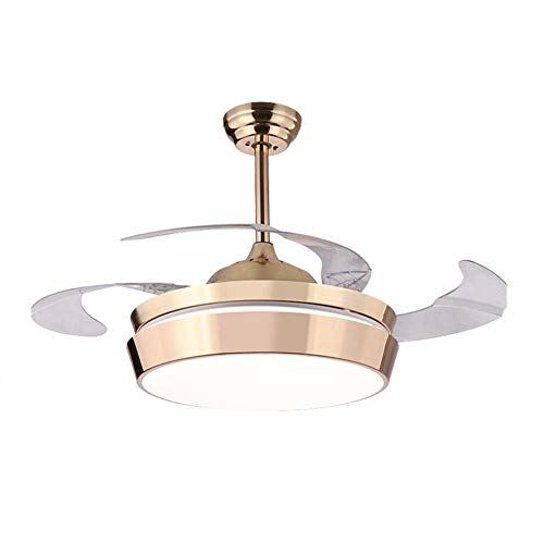 42-inch LED Ceiling Fan Light Remote Control Frequency Conversion Invisible Ceiling Fan With Light Bedroom Dining Room Living Room Pendant Lamp