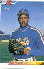1992 Bowman Baseball Card #268 Anthony Young