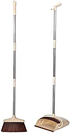 Porte-Pique Vertical avec poign/ée allong/ée et Ensemble Brosse pour Bois Franc et carrelage int/érieurs et Sol Dur ext/érieur A//N ImpressionnantEnsemble Balai et Porte-poussi/ère