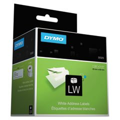 Box Address Label - DYMO Address Labels, 1-1/8 X 3-1/2, White, 520/Box