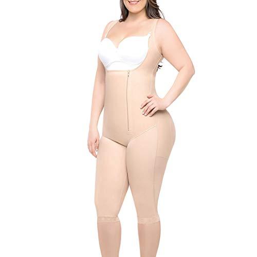 Shapewear Women Waist Trainer Slimming Body Shaper Modeling Strap Firm Bodysuit Apricot