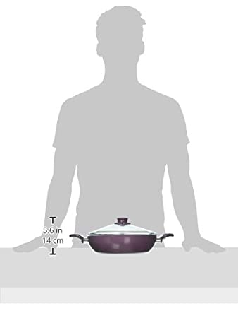 Essenso Lazio Enameled Nonstick Ceramic Stovetop Braiser 3.5 Quart PTFE//PFOA Free Purple
