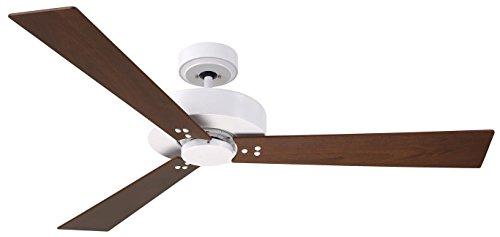 (Emerson Lighting CF320CSW Keane Satin White Ceiling Fan, Natural Cherry/Walnut)