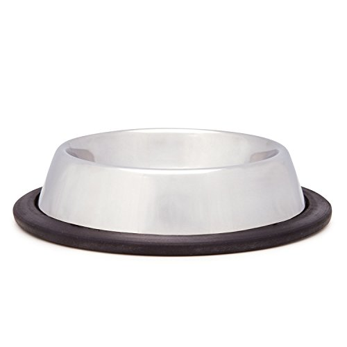 ProSelect X-Super Heavy Duty No-Tip Mirror Dishes — Durable and Versatile Stainless Steel Dishes for Dog and Cat Food, 8-Ounce (Tip Mirror Dish)