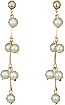 Litetao Womens Girls Freshwater Pearl Long Pearls Earrings Anniversary Engagement Party