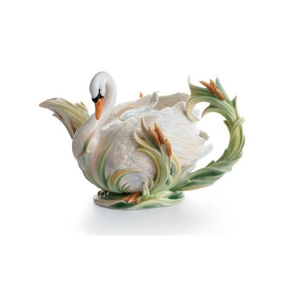 Swan Lake Porcelain Teapot