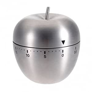 Man Friday Stainless Steel Apple 60 Minute Cooking Mechanical Alarm Timer