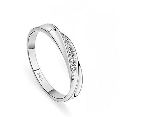 Winter's Secret Brief Fashion Valentine's Day Gift Diamond Accented Silver Ring