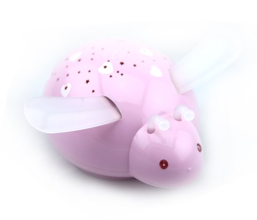 """Price comparison product image """"Touch-Active,  Easy Clean"""" Twilight Constellation Galaxy StarBee Star Projector Night Light by Lumitusi (Pink)"""