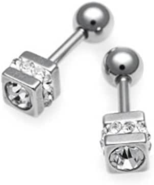 TATIAS ELI Titanium Alloys Ball Lock Stud Earrings TEP-956