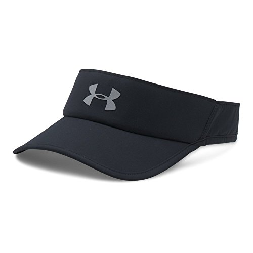 Under Armour Men's Shadow 4.0 Run Visor, Black/Black, One - Visor Mens Running