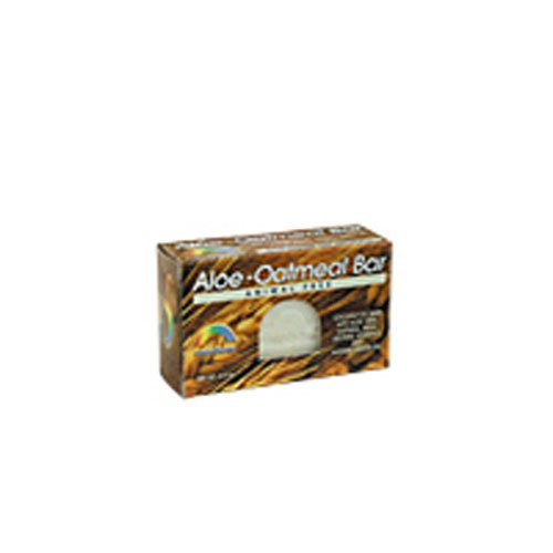 Rainbow Research Aloe Oatmeal Bar Soap, 4 Ounce - 6 per case. -