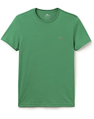 Lacoste Men's Green Crew Neck Men's T-Shirt in Size 4-M Green