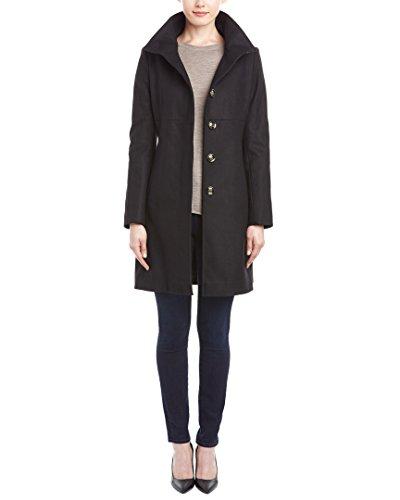 UPC 763656251003, Via Spiga Women's 02027R-V5 Stand Collar Coat, Black, 8 US