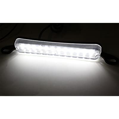 iJDMTOY Universal Fit Bolt-On To License Plate Frame 12-SMD Xenon White LED License Plate Illumination Light Lamp: Automotive
