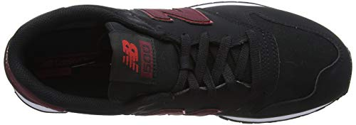 Cbb New Gm500 Red Negro team black Sneaker Burgundy Hombre nb Balance w6w4qvA
