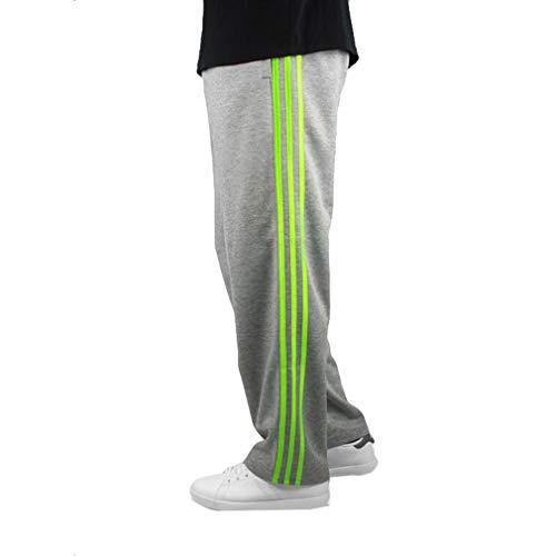 Bordo Corsa Uomo Vita Verde 3 Fitness taglia Casual Fuxinhe L Libero Accogliente Grigio Da Strisce Elastica Pantaloni Jogging Tempo 7xl wnxTBfOq