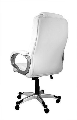 La Silla Española Valencia Silla de Oficina y Despacho, Piel Sintética, Blanco, 68x74x123 cm: Amazon.es: Hogar