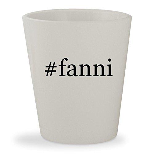 #fanni - White Hashtag Ceramic 1.5oz Shot Glass