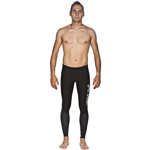 Arena Powerskin Carbon Compression Long Tights, Black/Deep Grey, X-Small by Arena (Image #1)