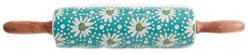 The Pioneer Woman Flea Market Floral Decal Rolling Pin with Wood Handle