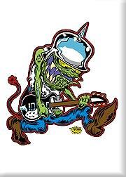 Artista Fancy a Donny cubo Head Monster diseño de guitarra ...
