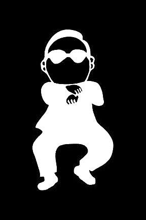 [Gangnam Style JDM Decal Vinyl Sticker|Cars Trucks Vans Walls Laptop| White |5.5 x 3 in|LLI334] (Neo Costumes Sunglasses)