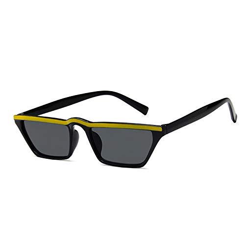 Yangjing-hl Gafas de Sol Retro Negro Big Box Tide par Gafas ...