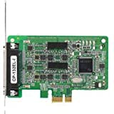 Moxa CP-132EL-i-DB9M 2 Port PCIe Board with DB-9M Cable, RS-422/485 with 2KV optical isolation. Low profile