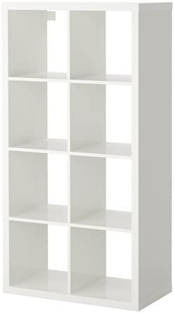 IKEA Kallax – Estanterías unidad, de alto brillo blanco ...