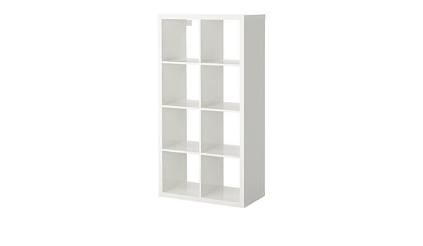 IKEA Kallax – Estanterías unidad, de alto brillo blanco: Amazon ...