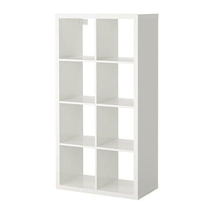 ikea kallax bookcase shelving unit display high gloss white shelf - White Bookshelves Ikea