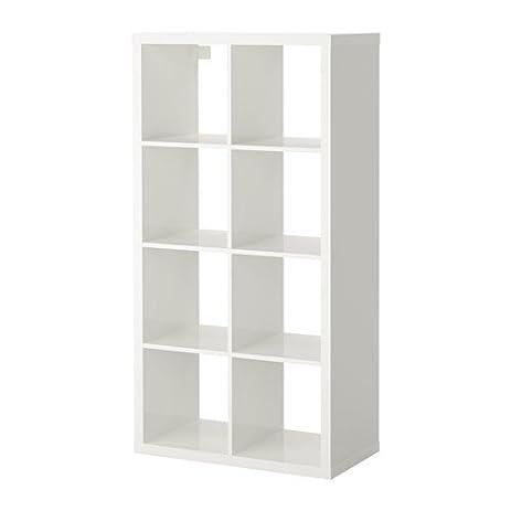 Amazon Com Ikea Kallax Bookcase Shelving Unit Display High Gloss