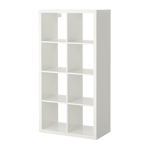- IKEA Kallax Bookcase Shelving Unit Display High Gloss White Shelf 103.057.41
