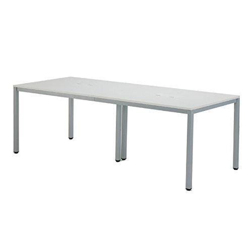 OAミーティングテーブルW2100 AT-2190-AF2 ホワイト B0184ZCA8W