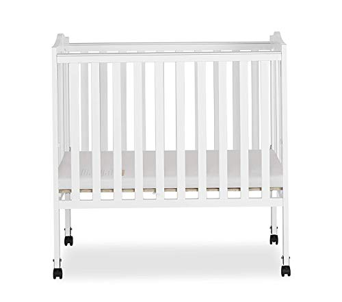 Drеаm Оn Mе Deluxe Premium Collection 2 in 1 Lightweight Folding Portable Stationary Side Crib Decor Comfy Living Furniture ()
