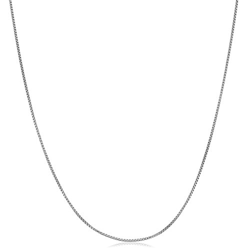 Kooljewelry Platinum 0.5 mm Delicate but Strong Venetian Box Chain Necklace (18 inch)