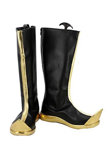 Veribuy Halloween Hero Cosplay Shoes Guardian Costume Black Cosplay Boots ()
