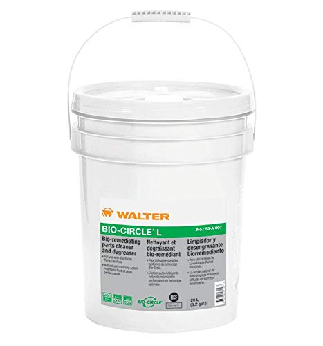 Walter 55A007 Bio-Circle L Industrial Parts Cleaner - VOC-Free, 20 L Pail Degreaser. Oil and Grease Cleaners ()